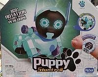 Робот-щенок Puppy Stunt roll, голубой