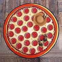 Махровое круглое пляжное полотенце - Пицца, 150 см