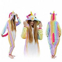 Пижама кигуруми Радужный единорог, взрослый, размер M