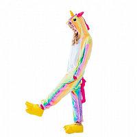Пижама кигуруми Радужный единорог, взрослый, размер L