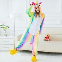 Пижама кигуруми Радужный единорог, взрослый, размер XL