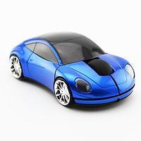 Беспроводная мышь в форме машины Porsche, синий