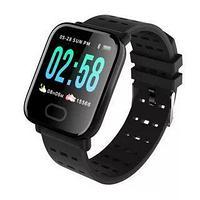 Умные часы с измерителем давления A6 Smart Bracelet Sistained Heart Rate, чёрный