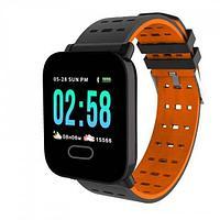 Умные часы с измерителем давления A6 Smart Bracelet Sistained Heart Rate, оранжевый