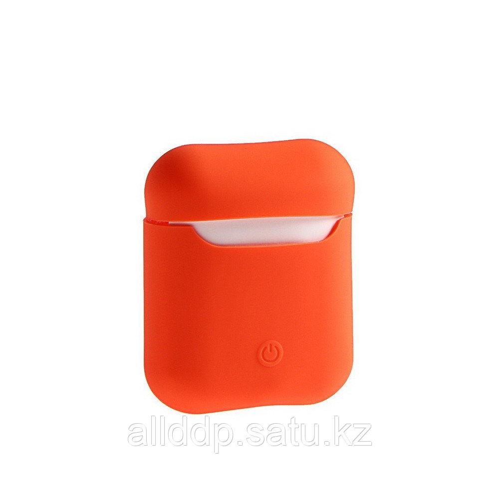 Чехол Soft touch для кейса Apple AirPods, оранжевый - фото 1