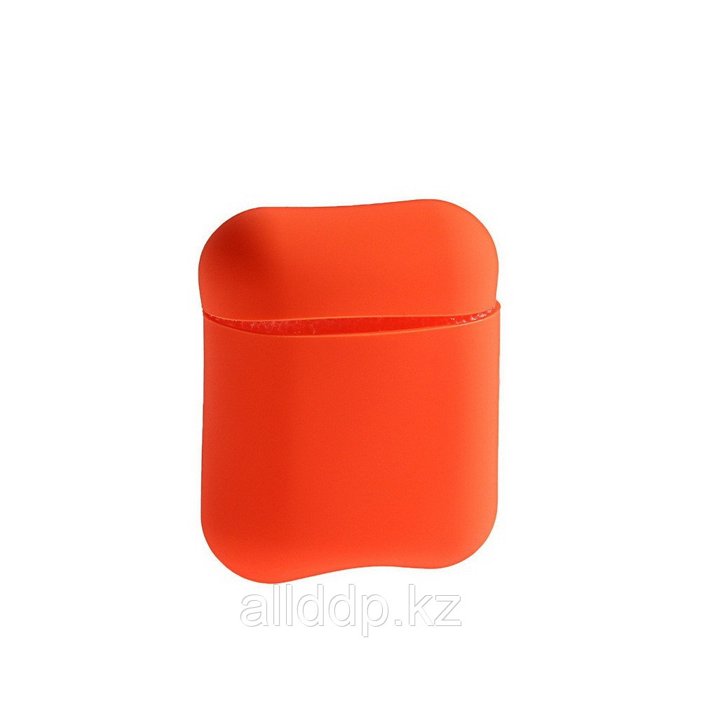 Чехол Soft touch для кейса Apple AirPods, оранжевый - фото 2