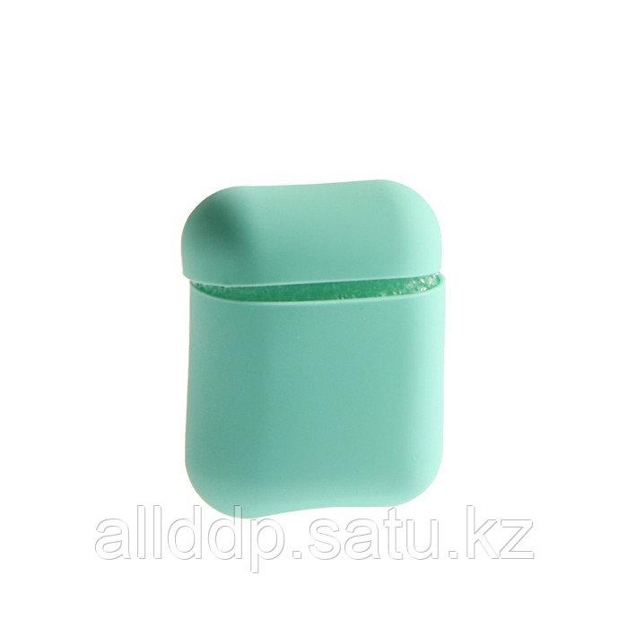Чехол Soft touch для кейса Apple AirPods, бирюзовый - фото 3