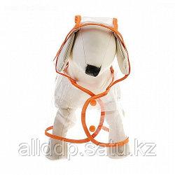 Дождевик для собак, ПВХ, размер XS (ДС 24 см, ОШ 28 см, ОГ 38-42 см)