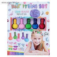 Набор мелков для окрашивания волос 5 цветов + косметичка