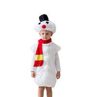 Карнавальный костюм 'Снеговик', 3-5 лет, рост 104-116 см