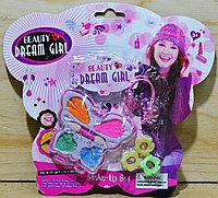 02926-5919E Dream girl набор тени бабочка заколка аксессуаров на картонке 21*18см