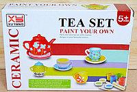 1484A Tea set ceramic, посуда раскраска 22*16см
