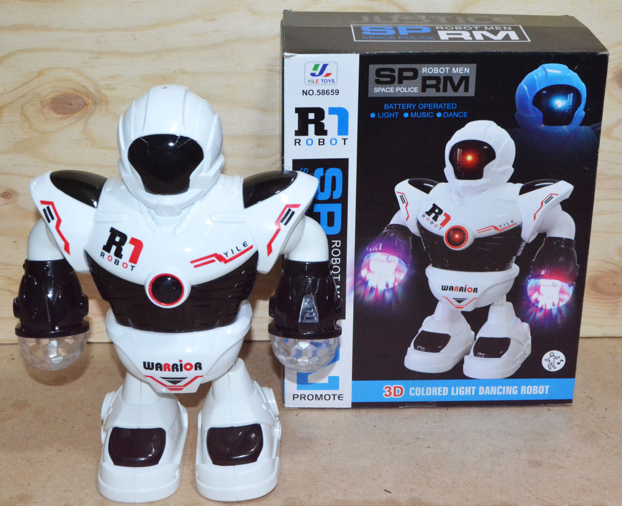 58659 Robot Space Police (музыка,свет,движение) 20*25см
