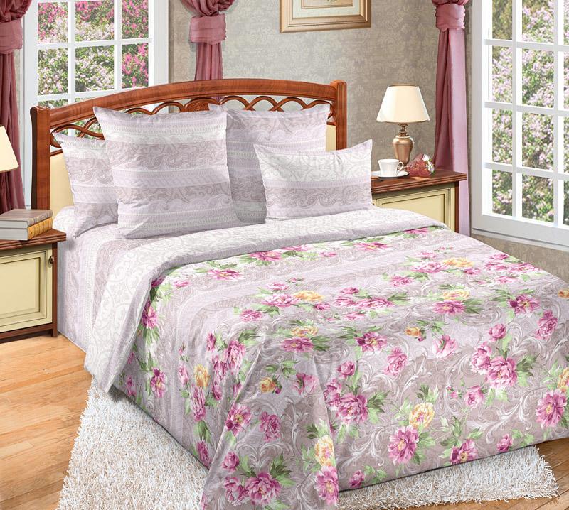 """ТексДизайн Комплект постельного белья """"Елизавета""""  2 спальный евро, перкаль"""
