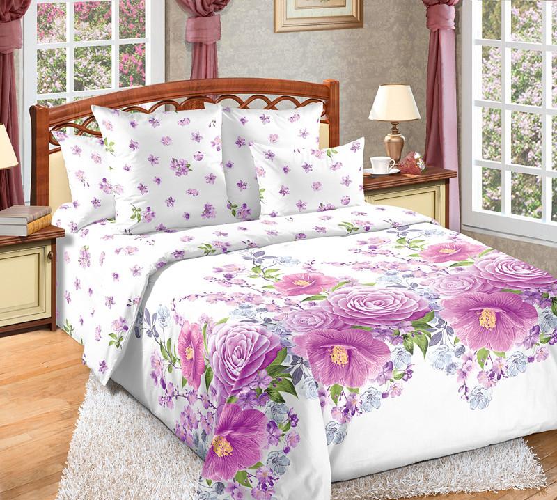 """ТексДизайн Комплект постельного белья """"Камелия""""  2 спальный евро, перкаль"""