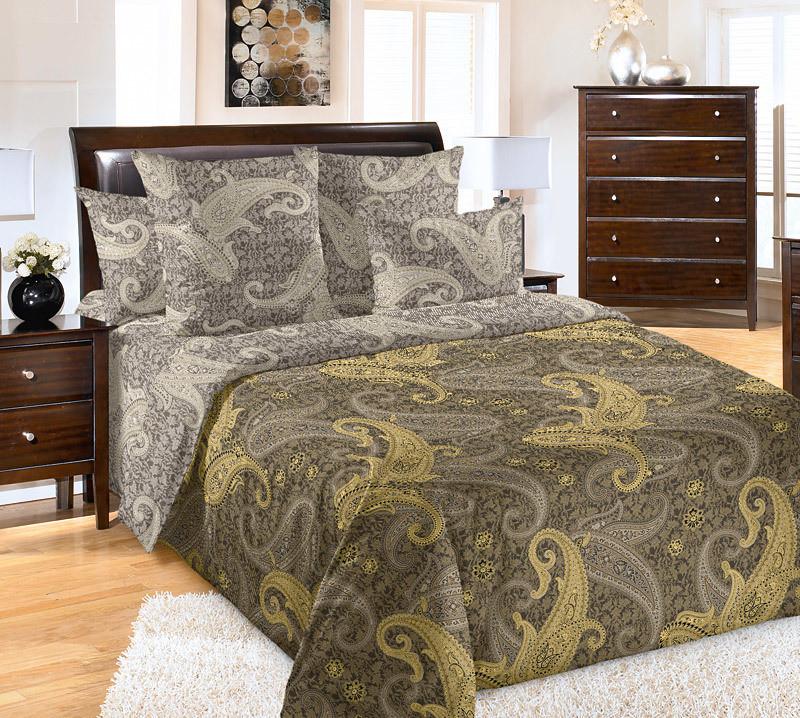 """ТексДизайн Комплект постельного белья """"Махараджа""""  2 спальный евро, перкаль"""