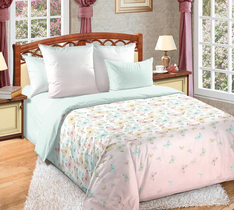"""ТексДизайн Комплект постельного белья """"Мон Амур""""  2 спальный евро, перкаль"""