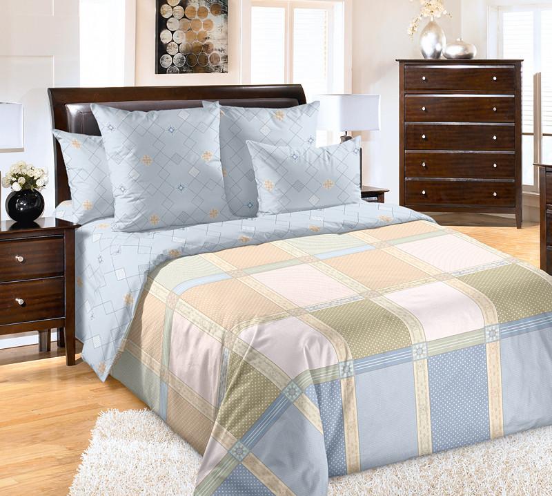 """ТексДизайн Комплект постельного белья """"Реприза""""  2 спальный евро, перкаль"""