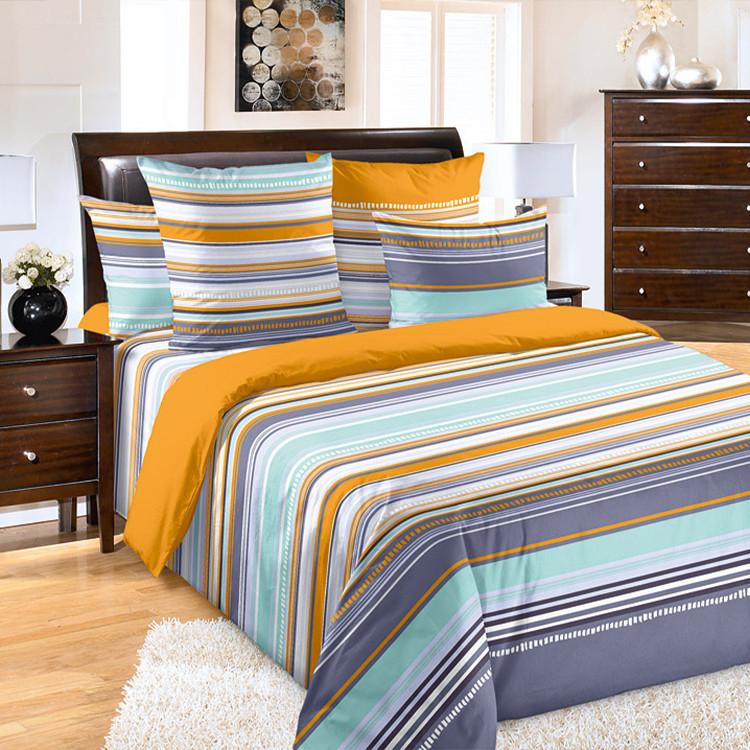 """ТексДизайн Комплект постельного белья """"Дакота""""  2 спальный евро, перкаль"""