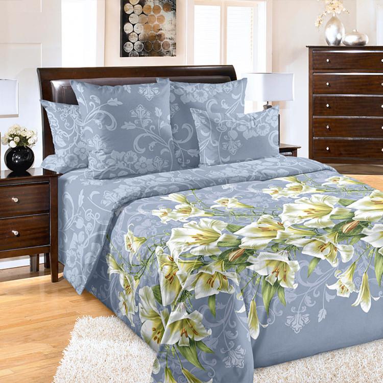 """ТексДизайн Комплект постельного белья """"Лилия""""  2 спальный евро, перкаль"""