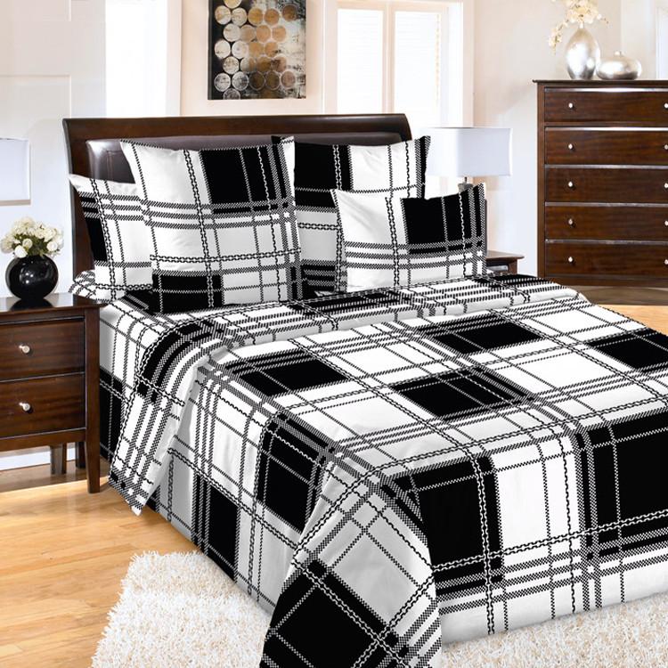 """ТексДизайн Комплект постельного белья """"Шерлок""""  2 спальный евро, перкаль"""