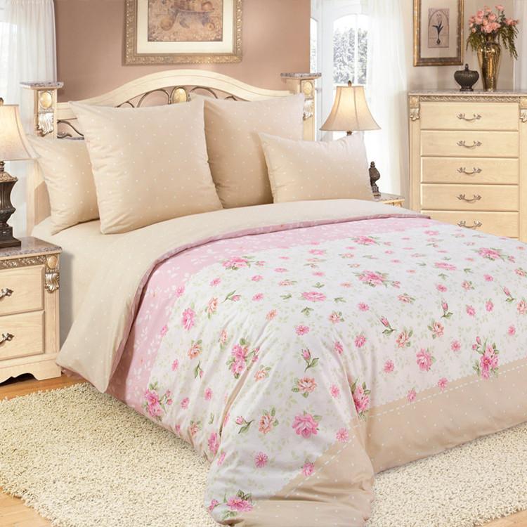 """ТексДизайн Комплект постельного белья """"Алиса""""  2 спальный евро, перкаль"""