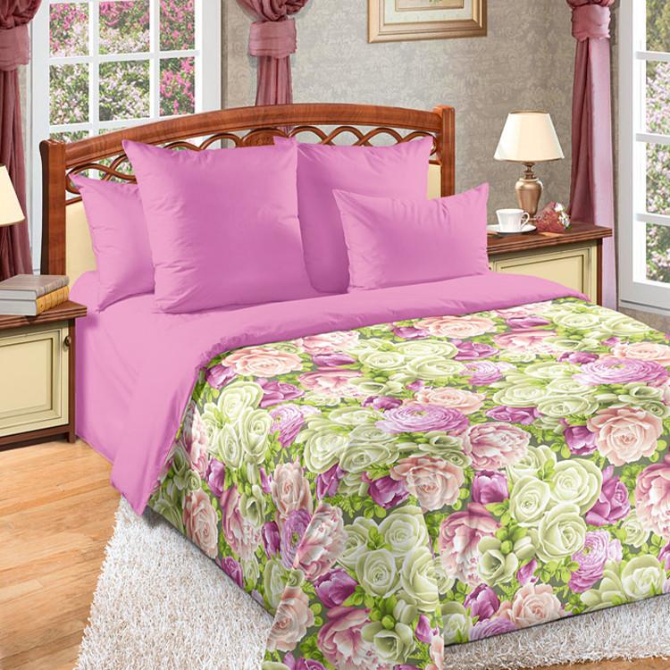 """ТексДизайн Комплект постельного белья """"Летний сад""""  2 спальный евро, перкаль"""