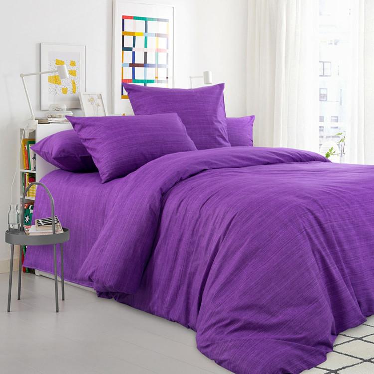 """ТексДизайн Комплект постельного белья """"Лавандовое поле""""  2 спальный евро, перкаль"""