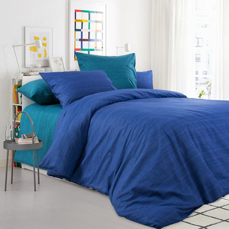 """ТексДизайн Комплект постельного белья """"Морская лагуна""""  2 спальный евро, перкаль"""