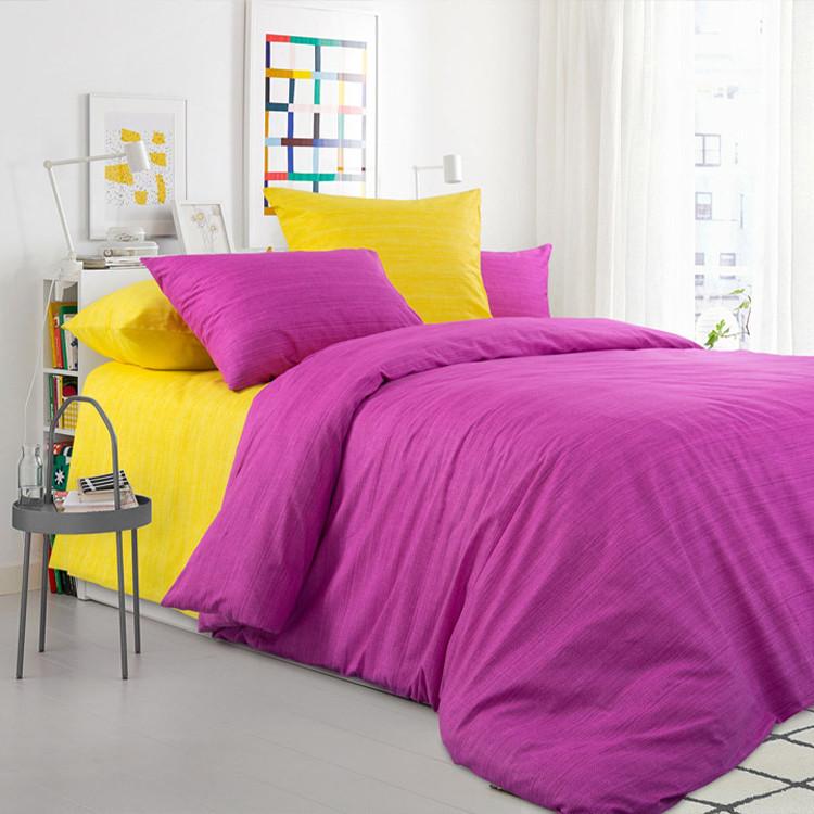 """ТексДизайн Комплект постельного белья """"Яркая астра""""  2 спальный евро, перкаль"""