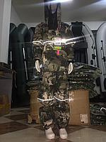 Костюм летний Детский Антигнус-Люкс с ловушками и пыльниками цвет Зеленый питон ткань Смесовая