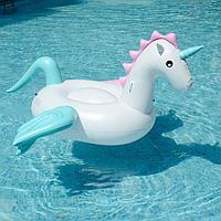 Пляжный надувной Единорог 240х240х120см для плавания, матрас баллон