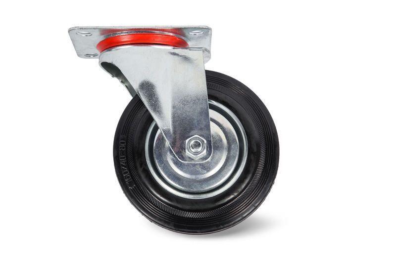 Колесо поворотное резина SC 63 160мм (C-3302-SLS-160)