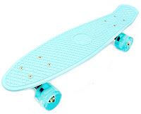 Скейт Пенни Борд с бесшумными колесами мятный, оранжевый, синий
