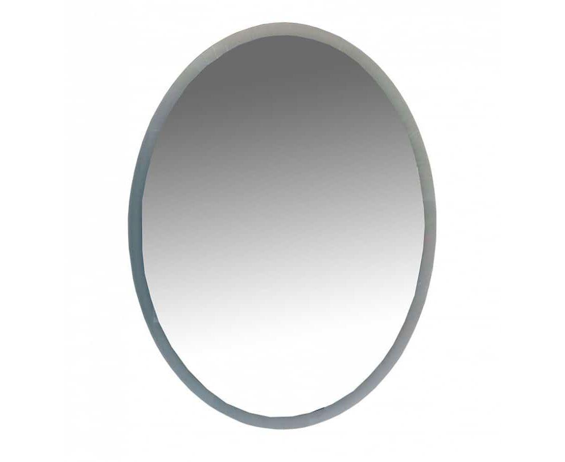 4 Неон - Зеркало LED 600х800 сенсор на зеркале (овальное)