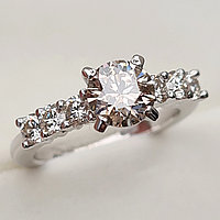 Золотое кольцо с бриллиантом 1.63Сt SI2/O EX-Cut