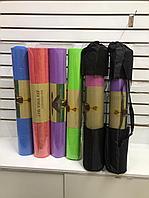 Коврик для фитнеса и йоги (каремат EVA Yoga Mat Eco Friendly) 3-4мм в чехле