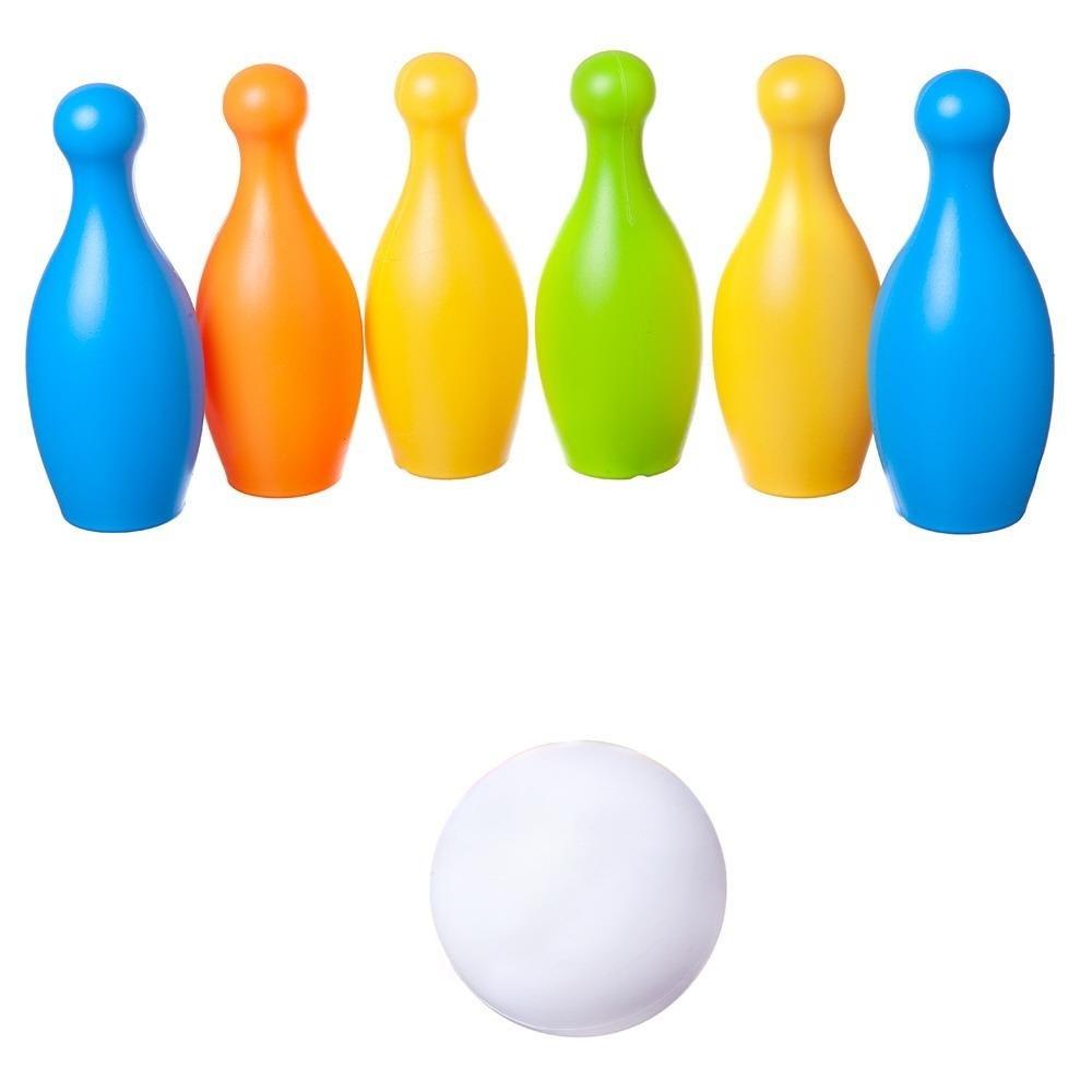 Junfa Игровой набор Боулинг с 6 кеглями и шаром в коробке