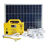 Солнечная электростанция с разъемом для подключения TV, 6 LED в комплекте SG1250W, фото 1