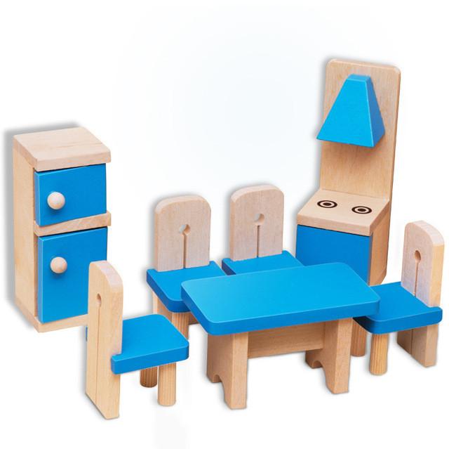 Деревянный набор мебели для кукол