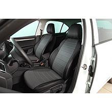 Авточехлы из экокожи Hyundai Tucson (2015-2019) Серый