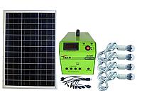 Солнечная электростанция SPS1230, 4 LED лампы в комплекте, аккумулятор 30 Ач, фото 1