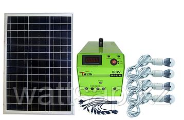 Солнечная электростанция SPS1230, 4 LED лампы в комплекте, аккумулятор 30 Ач