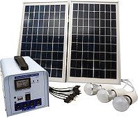Солнечная электростанция SPS1212, 3 LED лампы в комплекте, аккумулятор 12 Ач, фото 1