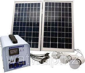 Солнечная электростанция SPS1212, 3 LED лампы в комплекте, аккумулятор 12 Ач