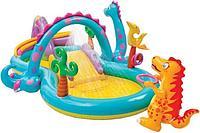 Надувной бассейн детский Intex Dinoland Play Center 57135