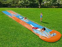 Водяная горка Bestway 488см для детей, плавания надувная