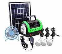 Солнечная электростанция SDM-0603, 3 LED лампы в комплекте, аккумулятор 4 Ач