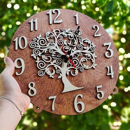 Дизайнерские настенные часы Дерево