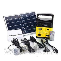 Солнечная электростанция SDM-3790, 3 LED лампы в комплекте, аккумулятор 9 Ач